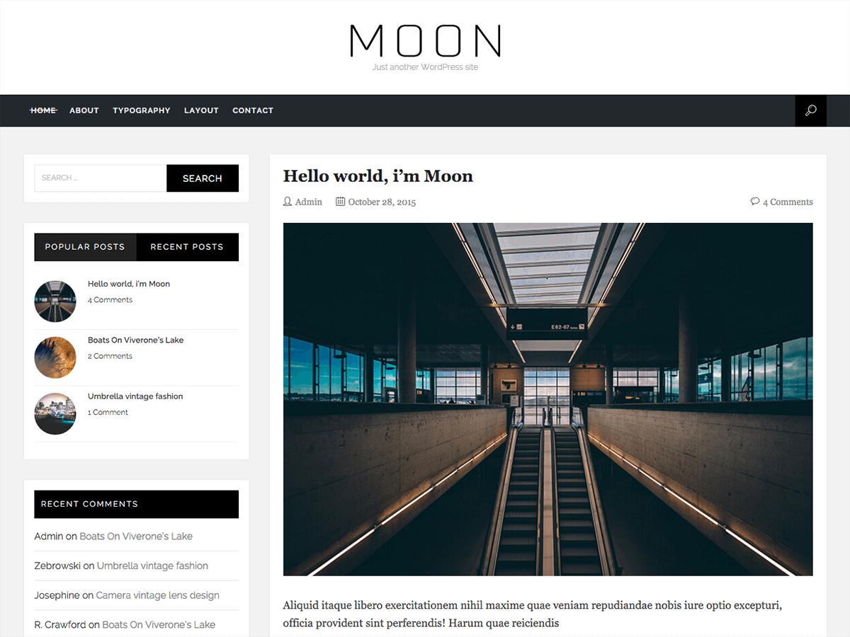 WordPress тема: Moon