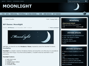 Moonlight free wordpress theme