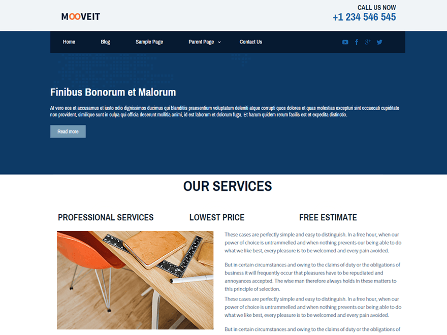 Mooveit Lite free wordpress theme