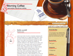Morning Coffee free wordpress theme