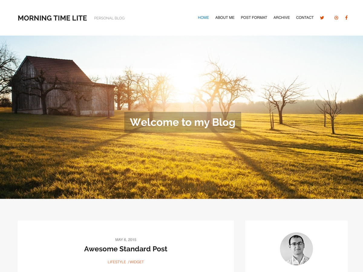 MorningTime Lite free wordpress theme