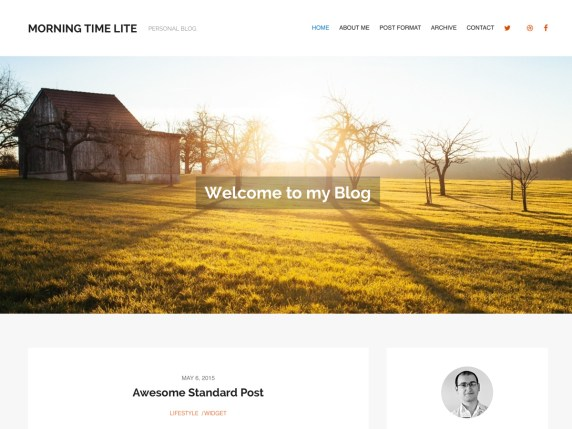 MorningTime Lite wordpress theme