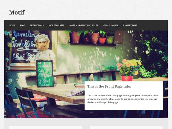 Motif free wordpress theme