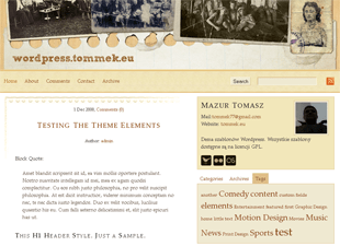 MT white free wordpress theme