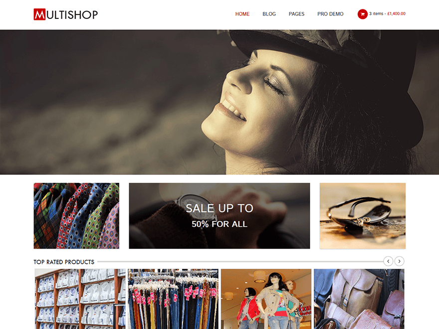 Multishop free wordpress theme