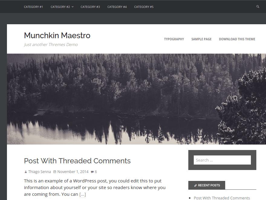 Munchkin Maestro free wordpress theme