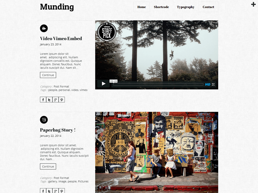 Munding Lite free wordpress theme