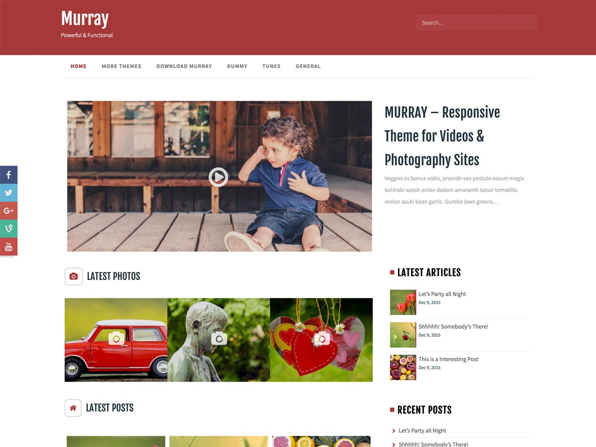 Murray free wordpress theme