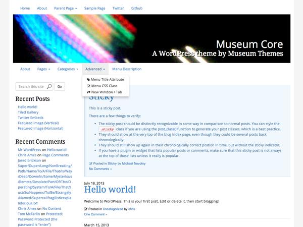 Museum Core theme wordpress gratuit