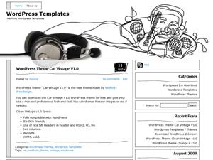 Music Illustrated free wordpress theme