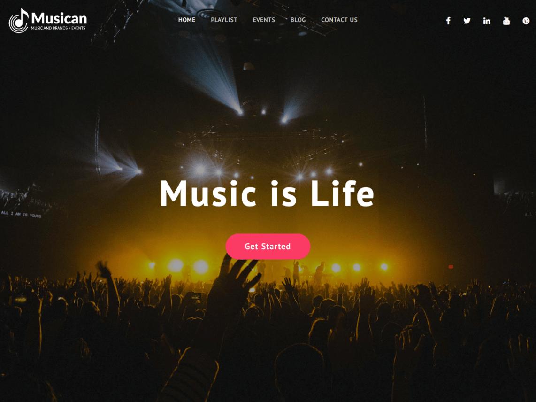 Musican-best-free-music-WordPress-theme-Yudleethemes