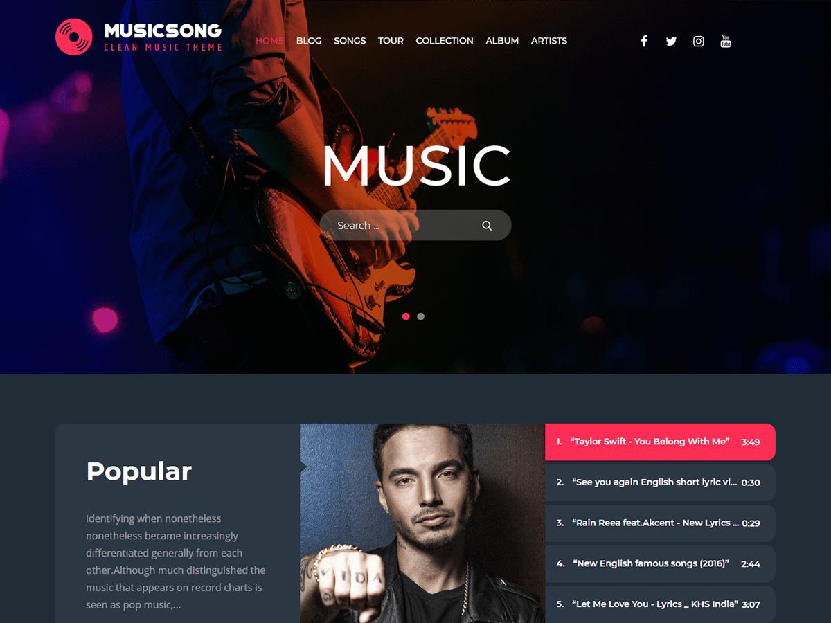WordPress主题:Musicsong