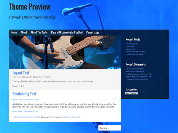 Musik free wordpress theme