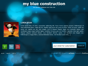 my blue construction wordpress theme