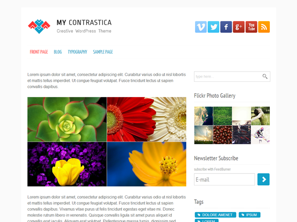 my contrastica under construction free wordpress theme