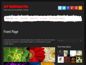my depressive free wordpress theme
