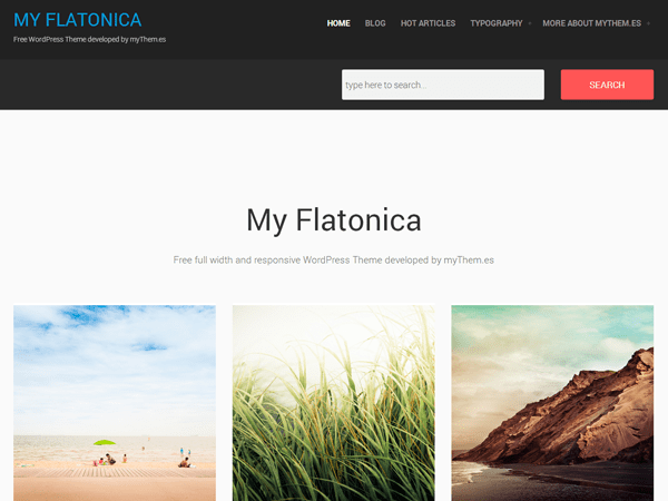my flatonica free wordpress theme