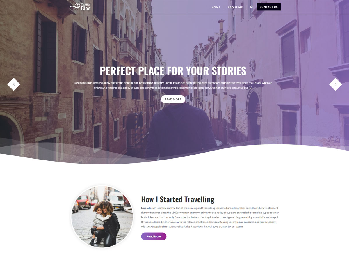 My Travel Blogs WordPress Theme Free Travel Template