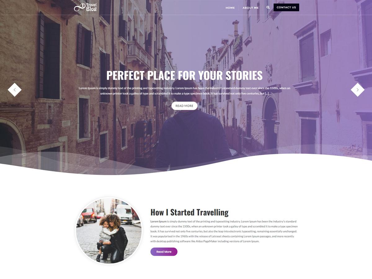 My Travel Blogs WordPress Theme Free Travel Template