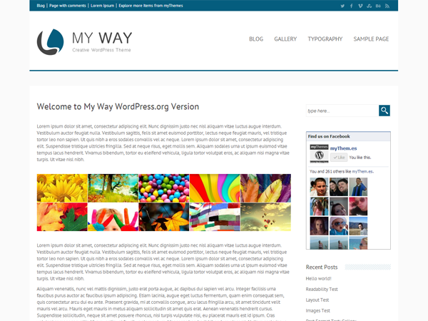 my way free wordpress theme