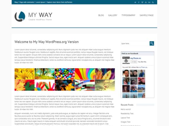 my way wordpress theme