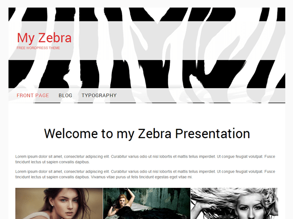 my zebra free wordpress theme