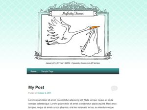 MyBaby free wordpress theme