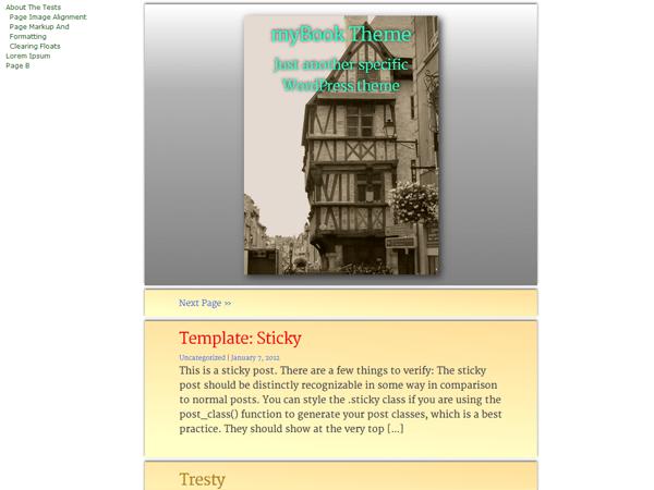 myBook free wordpress theme