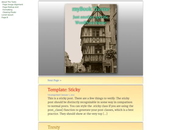 myBook wordpress theme