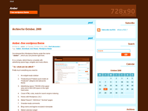 MyDaysOfAmber free wordpress theme