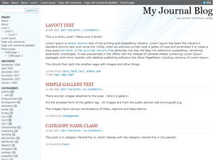 MyJournal Theme wordpress theme
