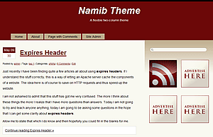 Namib free wordpress theme