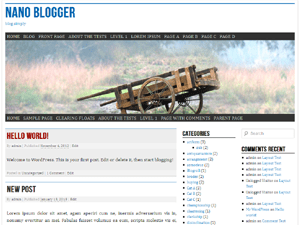 nano blogger free wordpress theme