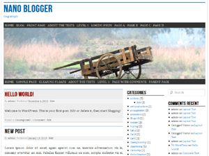 nano blogger wordpress theme