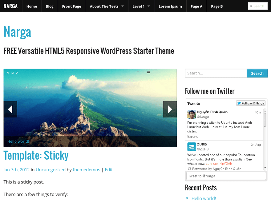 NARGA free wordpress theme
