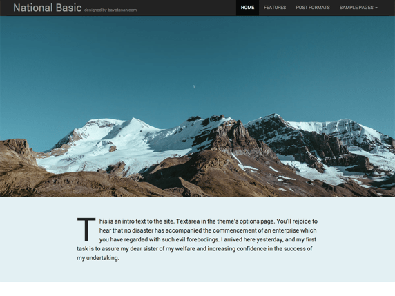 National Basic wordpress theme