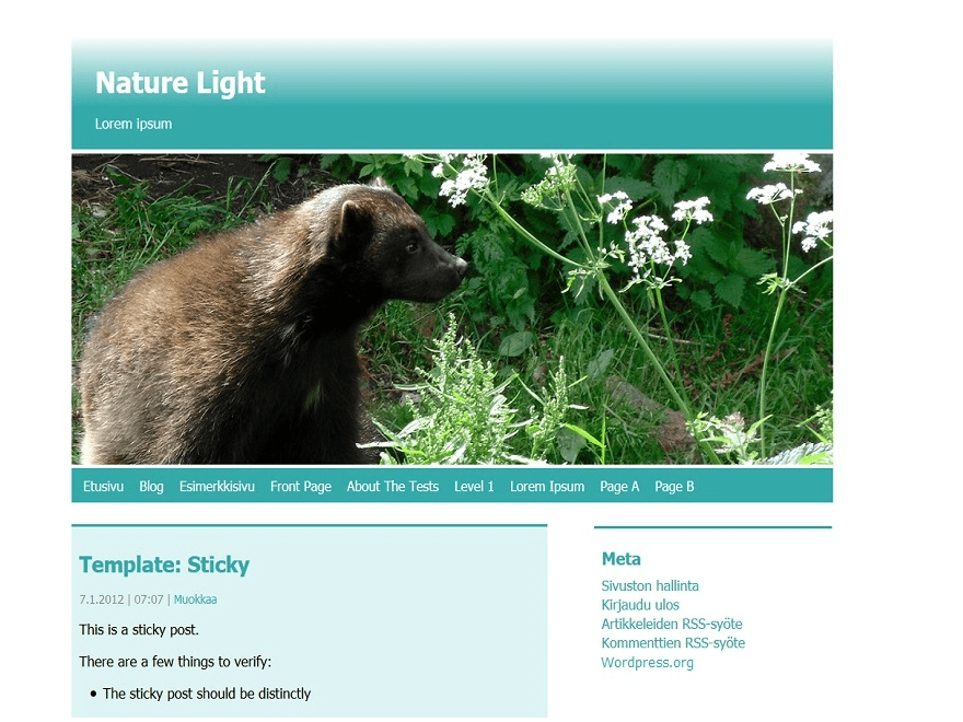 Nature Light free wordpress theme