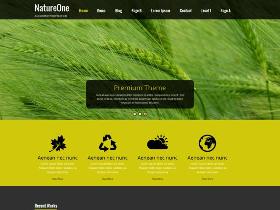 Nature One wordpress theme