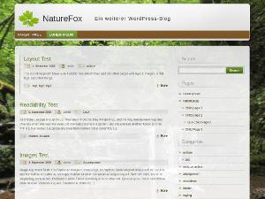 NatureFox free wordpress theme