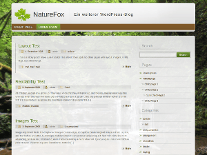 NatureFox theme wordpress gratuit