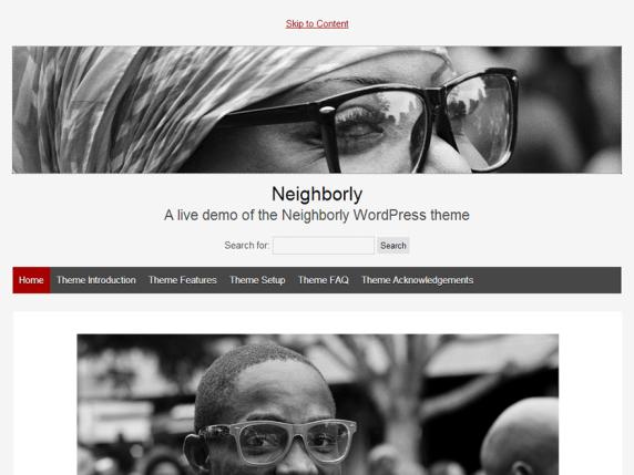 Neighborly wordpress theme