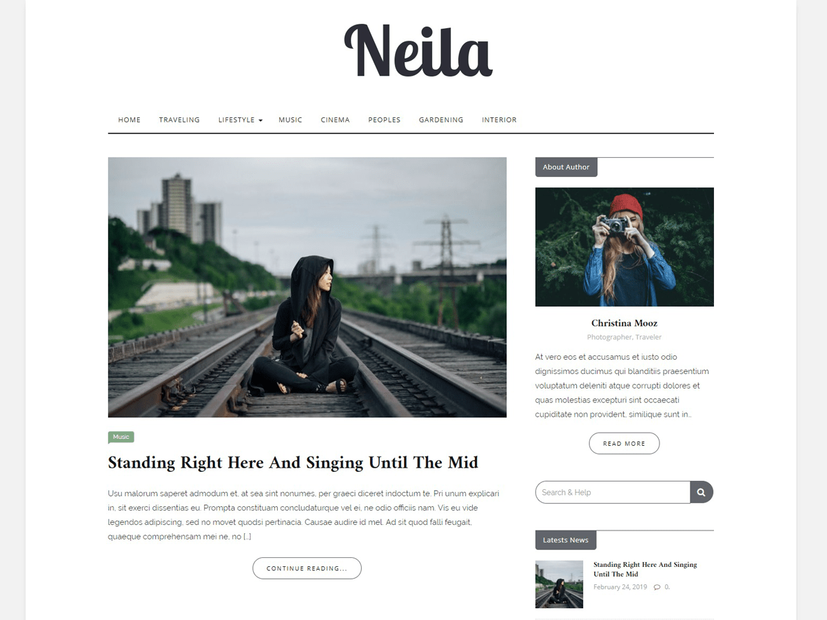 WordPress主题:Neila