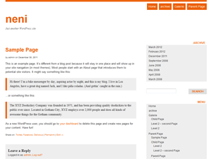 neni free wordpress theme