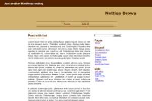 Nettigo Brown wordpress theme