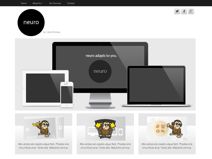 Neuro free wordpress theme
