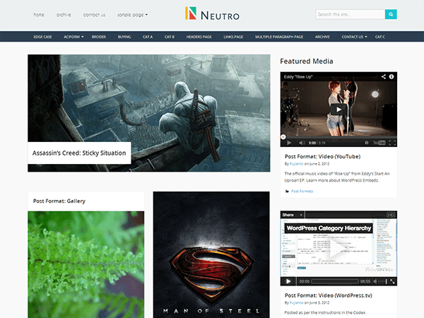 Neutro free wordpress theme