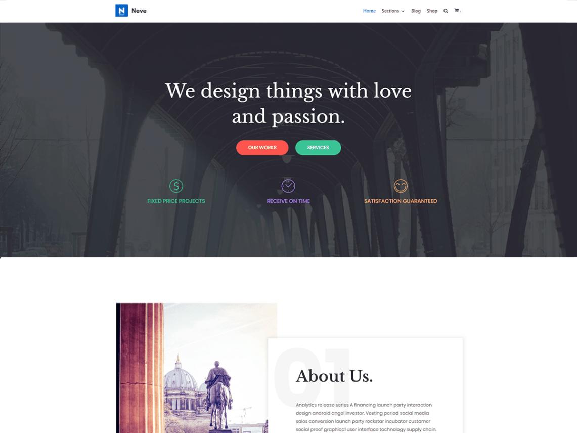 Neve - Top 10 Onepage WordPress themes