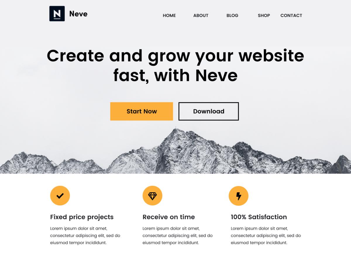 Neve wordpress theme free download