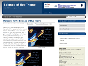New Balance of Blue wordpress theme
