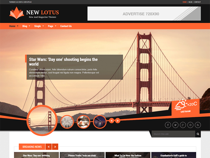 New Lotus free wordpress theme